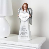 Personalised Christmas Angel Ornament - Ideal gifts for memorials, keepsake, Xmas, Family, Decoration